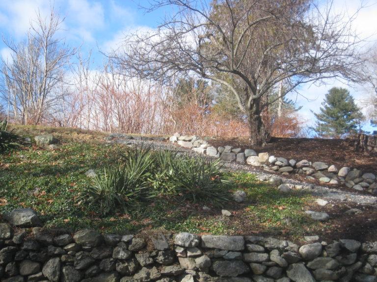 Stone Wall Farmscape 2 by Eileen McEnaney